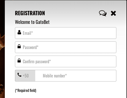 Gato bet SignUp
