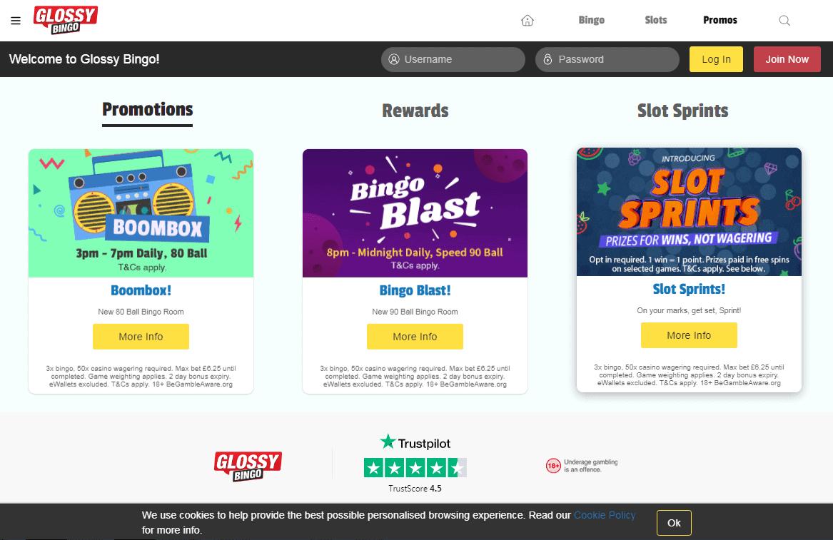 Glossy Bingo Promotions