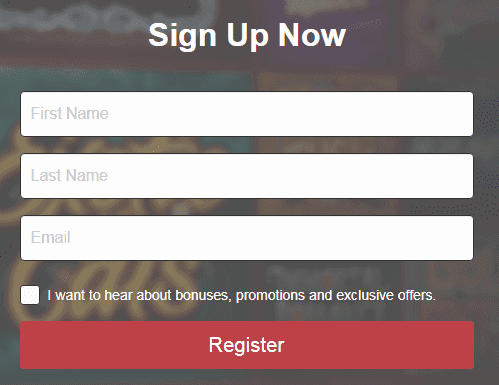 Glossy Bingo Signup