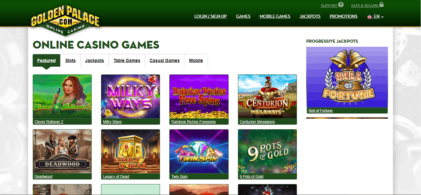 Golden Palace Game page