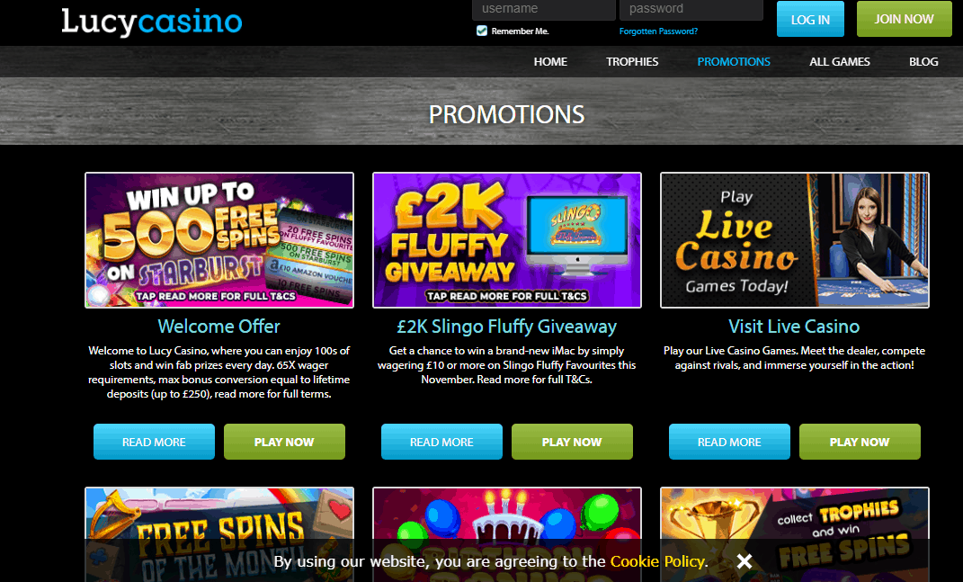 lucy casino promotion