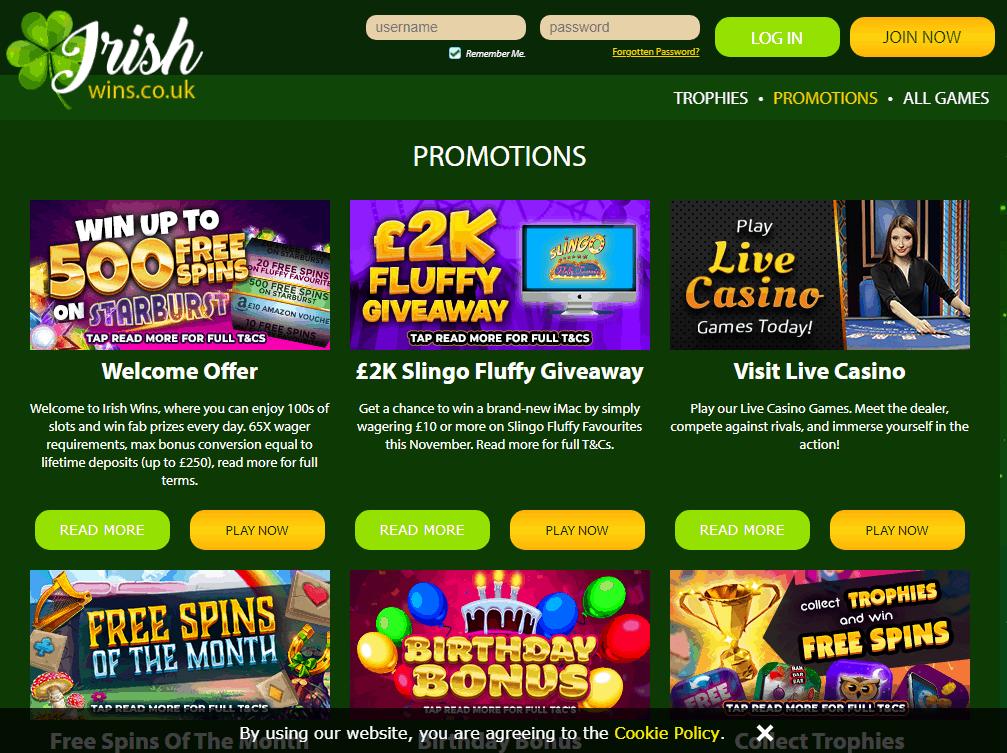 Irish Wins Promotions