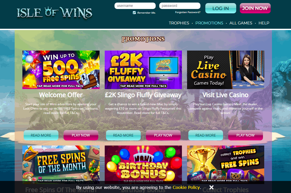 Isle of Wins Promotions