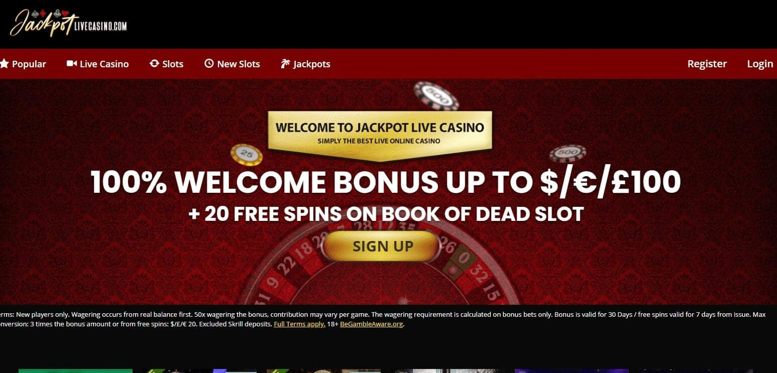 Jackpot Live Casino Home