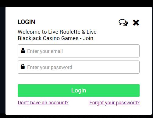 Jackpot Live Casino Login