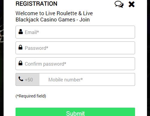 Jackpot Live Casino SignUp