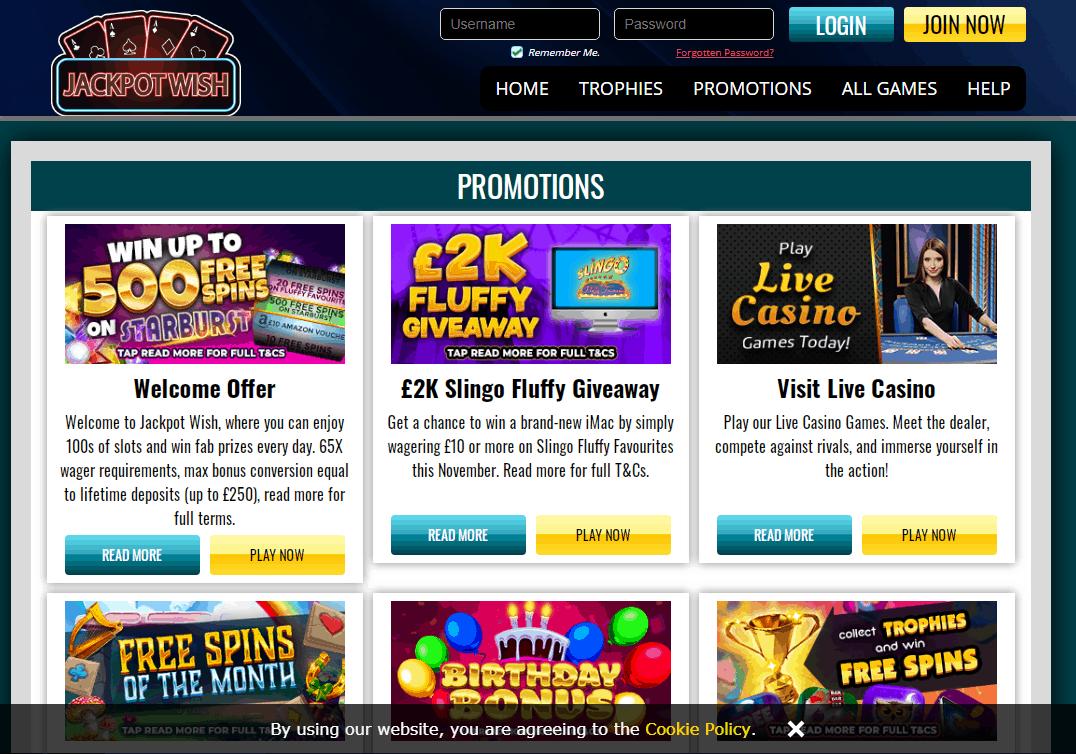 Jackpot Wish Promotions