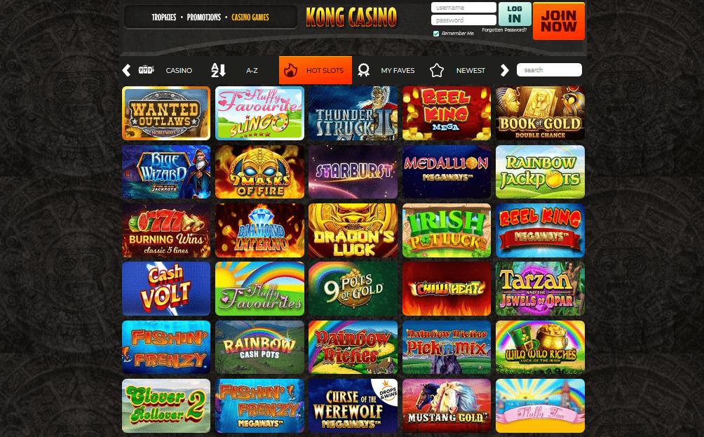 Kong Casino games
