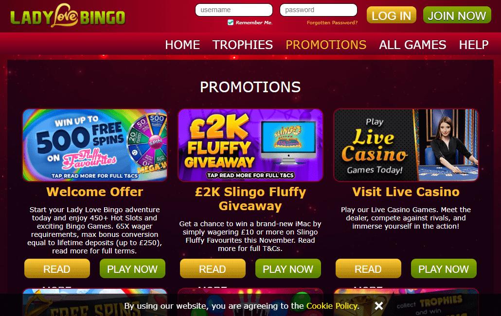 Lady Love Bingo promotion