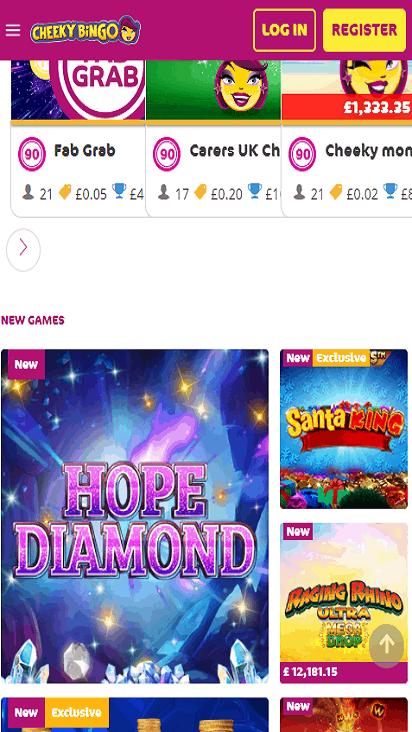 Landmark Bingo game mobile