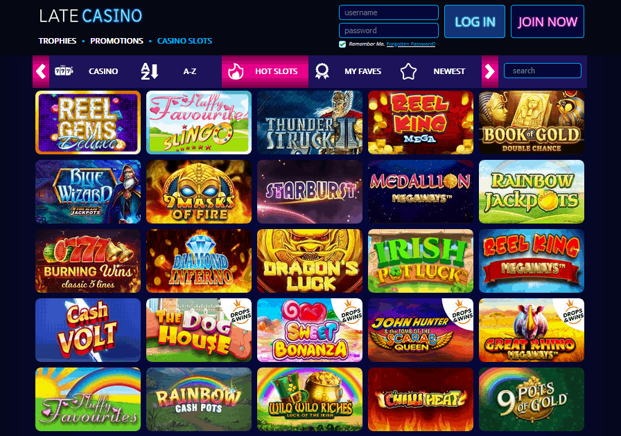Late Casino games