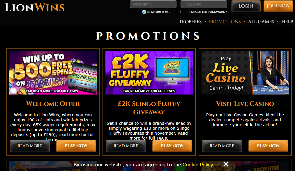 Lion Wins promotion