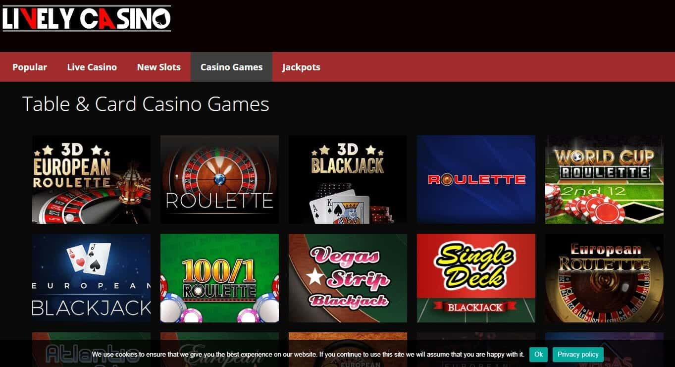 Lively Casino Game