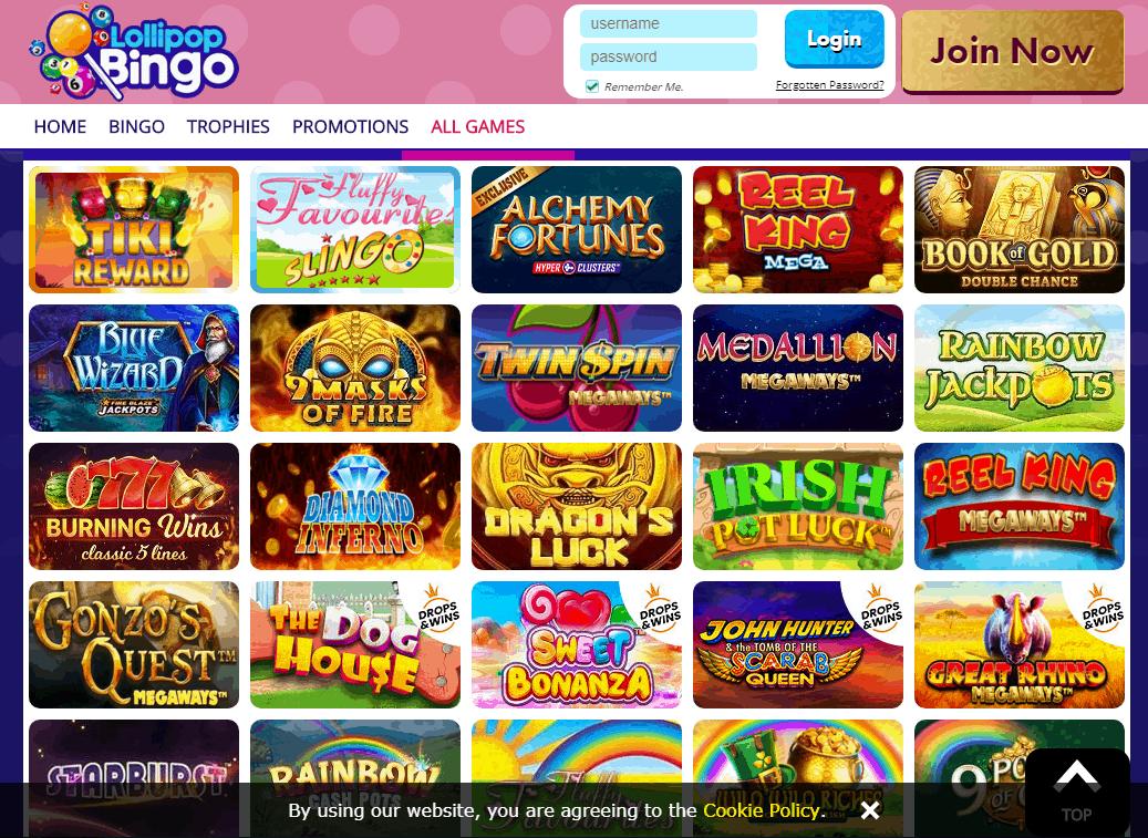 Lollipop Bingo Game