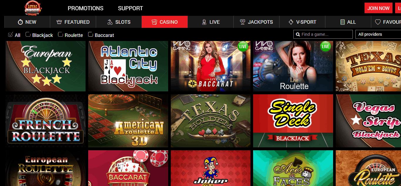 Loyal Slots Game Page