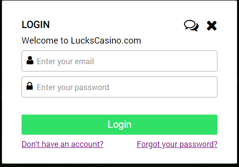 Lucks Casino Login
