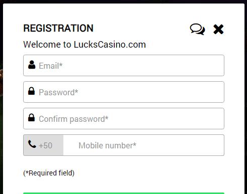 Lucks Casino Sign Up