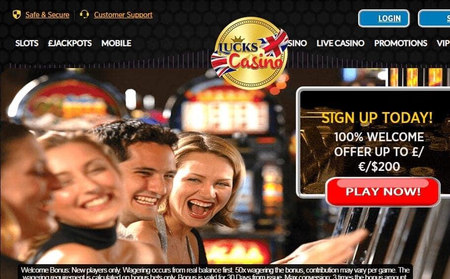 Lucks Casino Home Page
