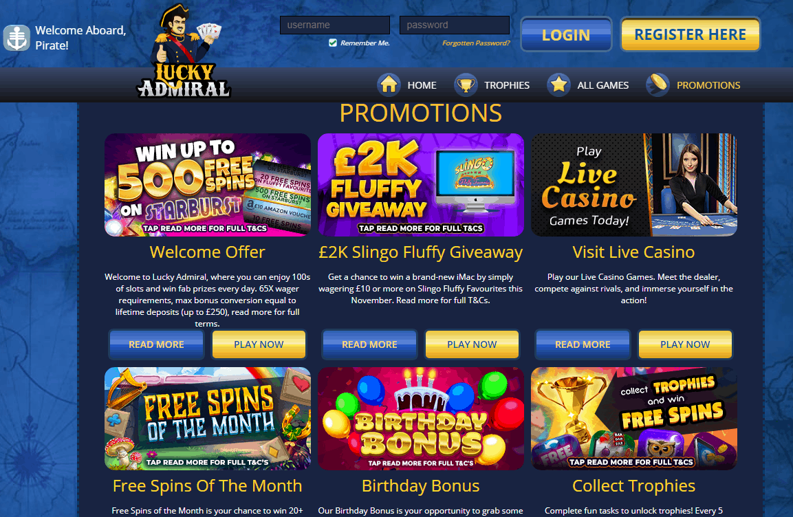 Lucky Admiral Promotions
