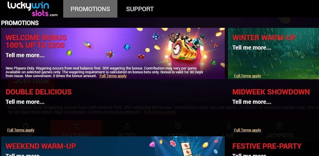 Lucky Win Slots Promotion