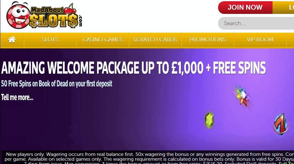 Mad About Slots Home