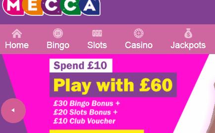 Mecca bingo front image