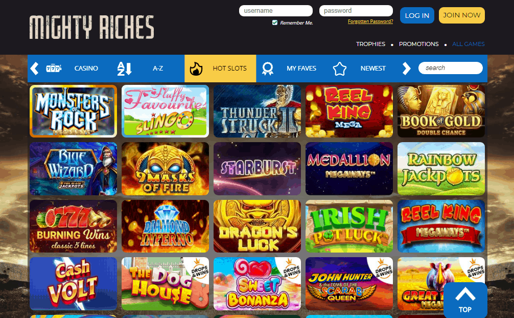 Mighty Riches games