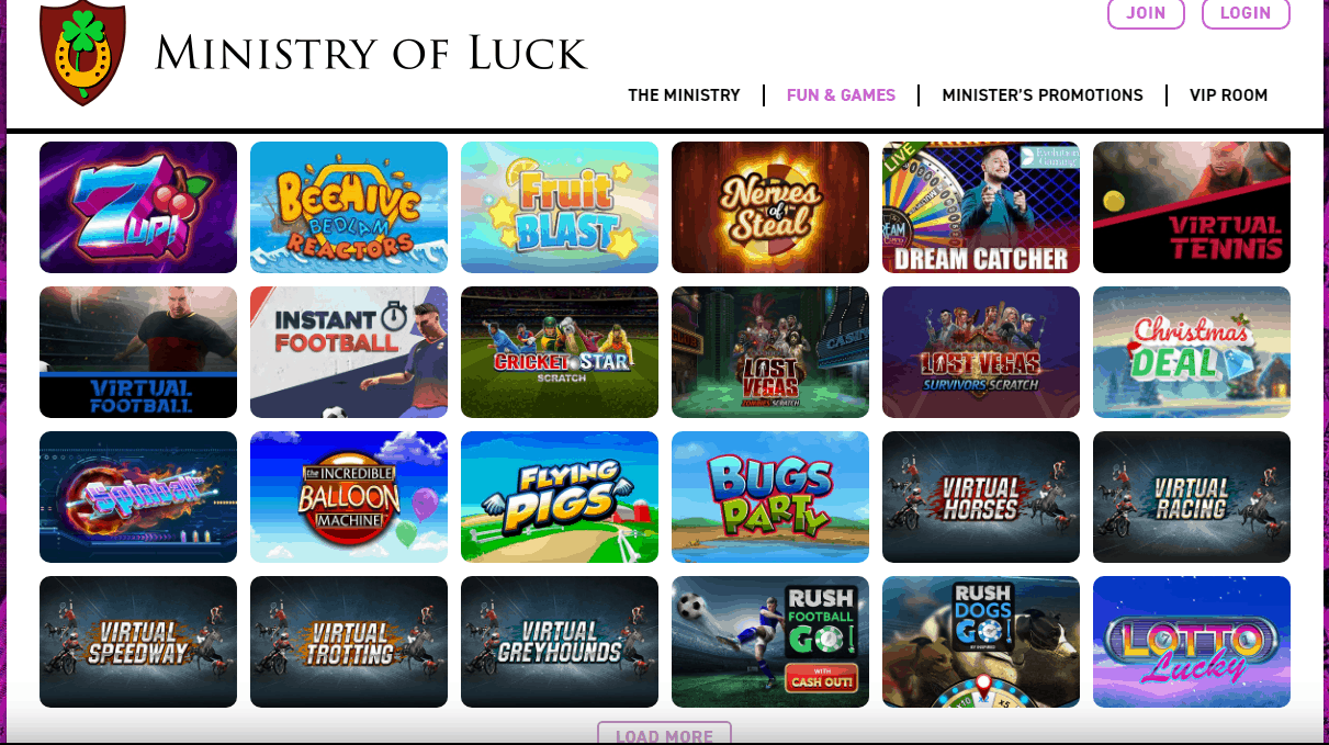 Ministry of Luck Game