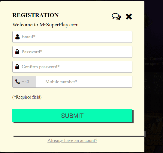 Mr SuperPlay  SignUp