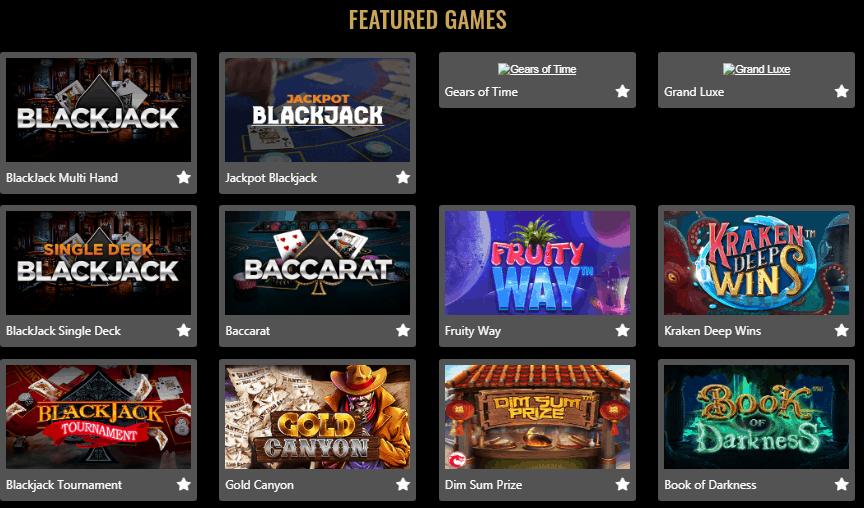 Myb Casino Gamepage