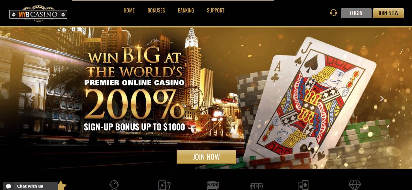 Myb Casino Homepage