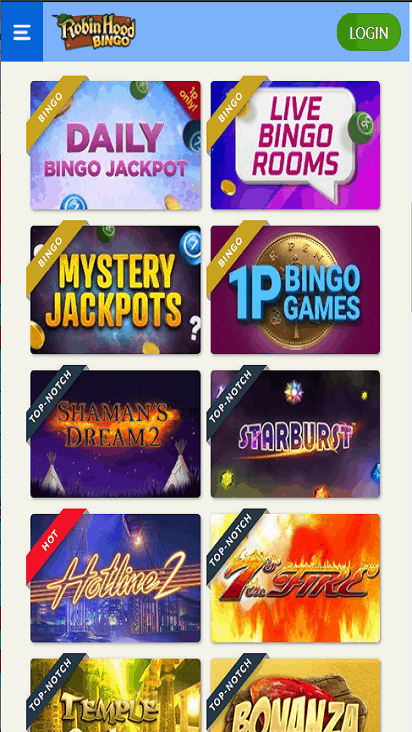 NewLookBingo game mobile