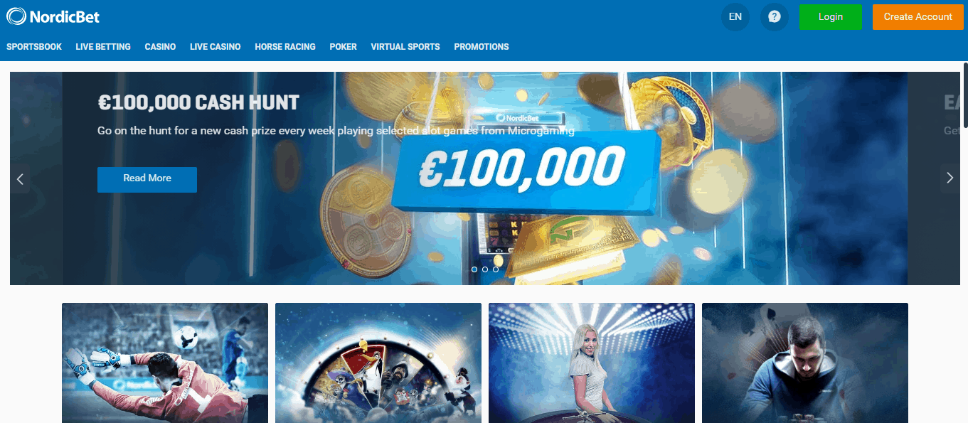 Nordic Bet home