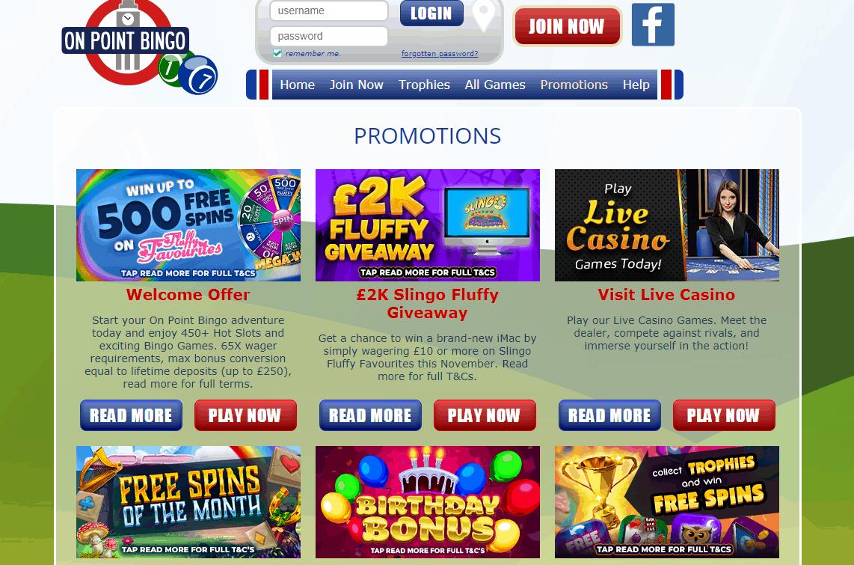 On Point Bingo Promotions