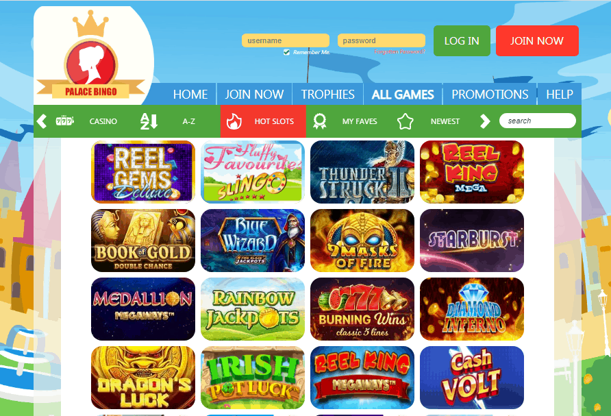 Palace Bingo games