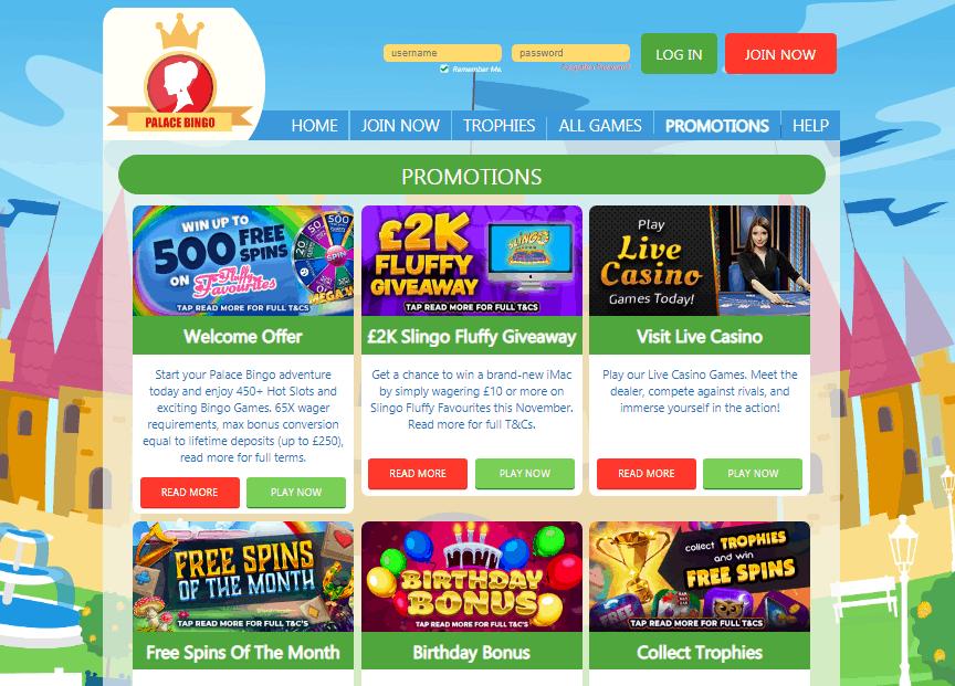 Palace Bingo promotions