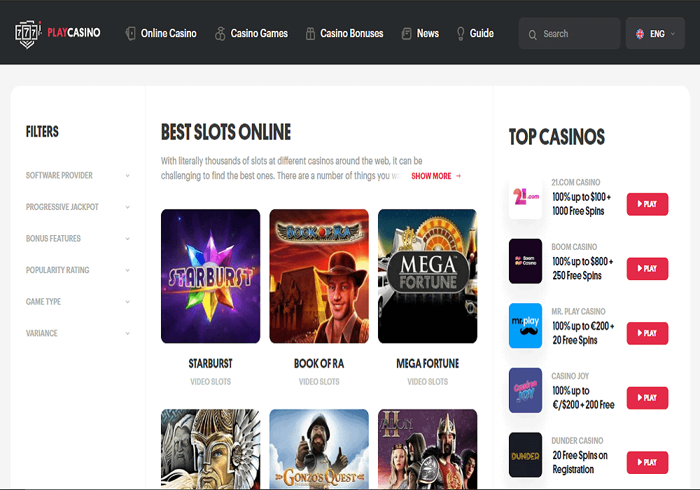 Cheeky Bingo games page