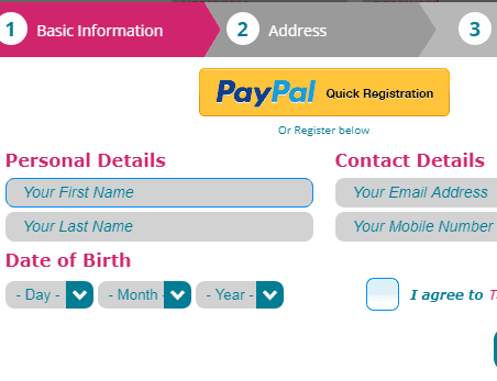 Pink Riches Signup