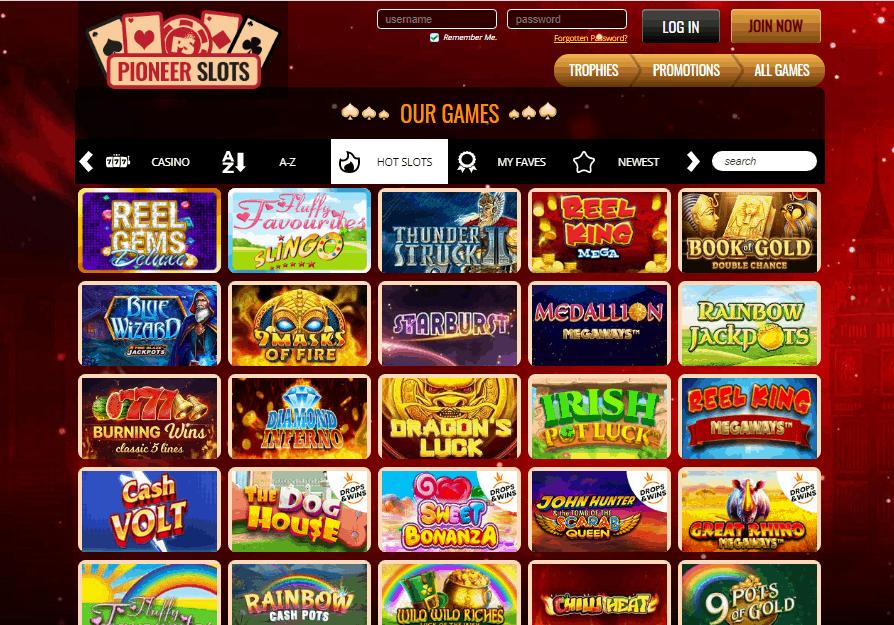 Pioneer Slots games