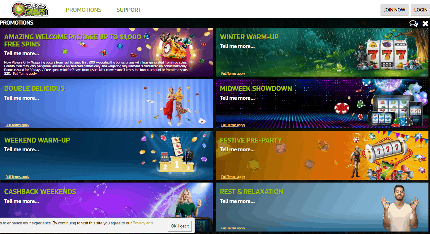 Play Casino Games Promotions