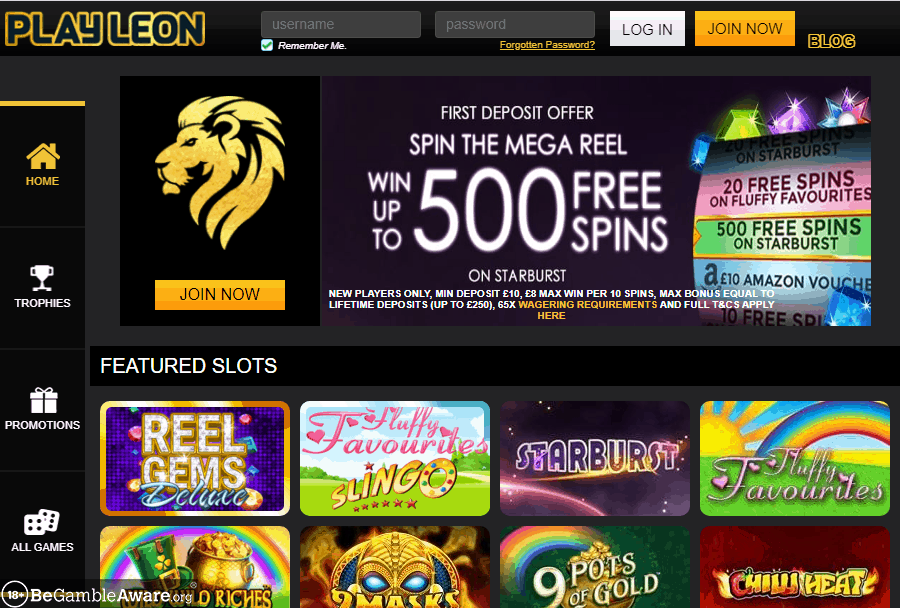 Play Leon home page