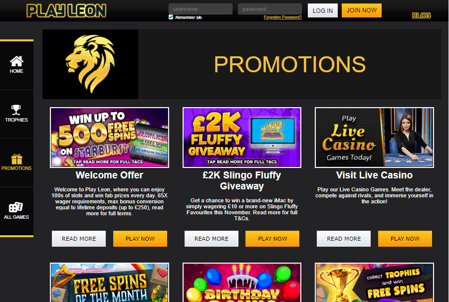 Play Leon promotions