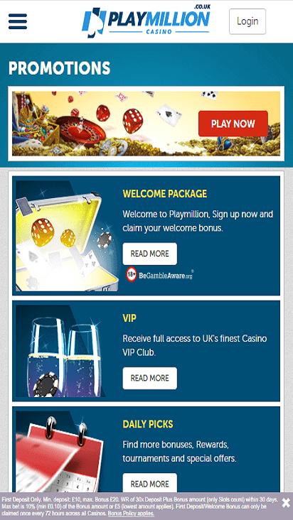 PlayMillion pomo mobile