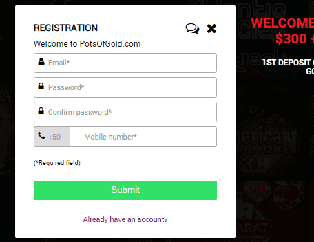 Pots of Gold SignUp
