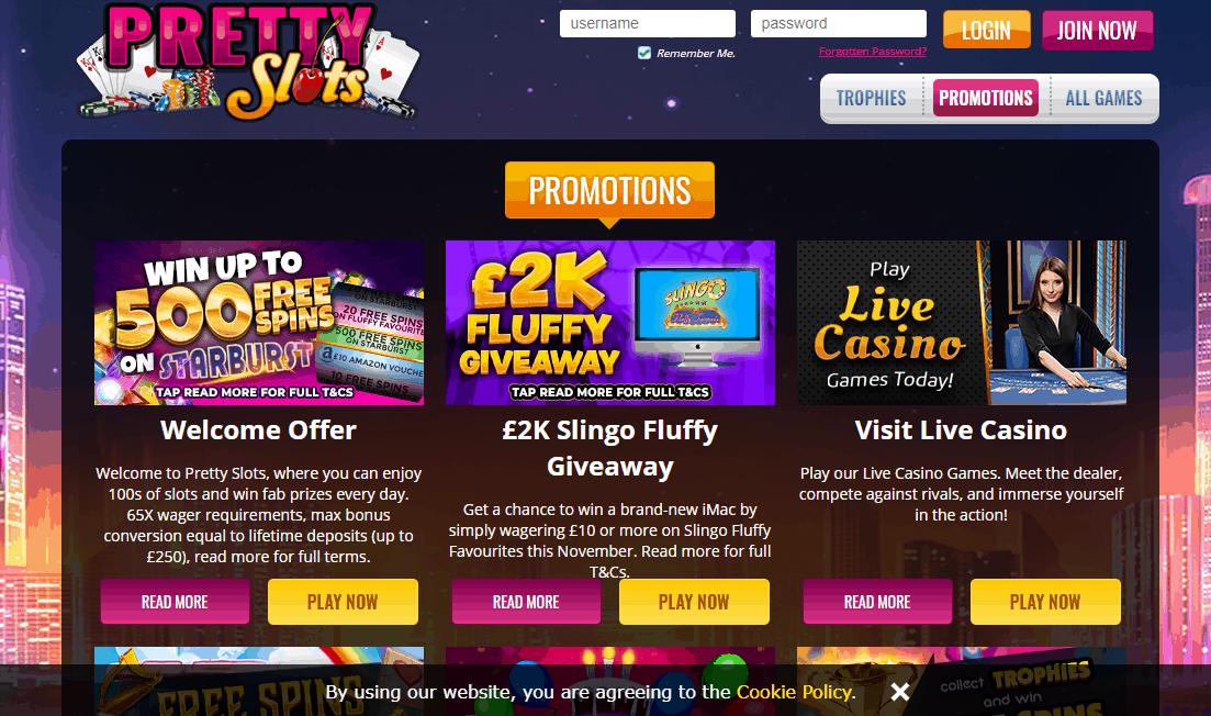 Pretty Slots promotion