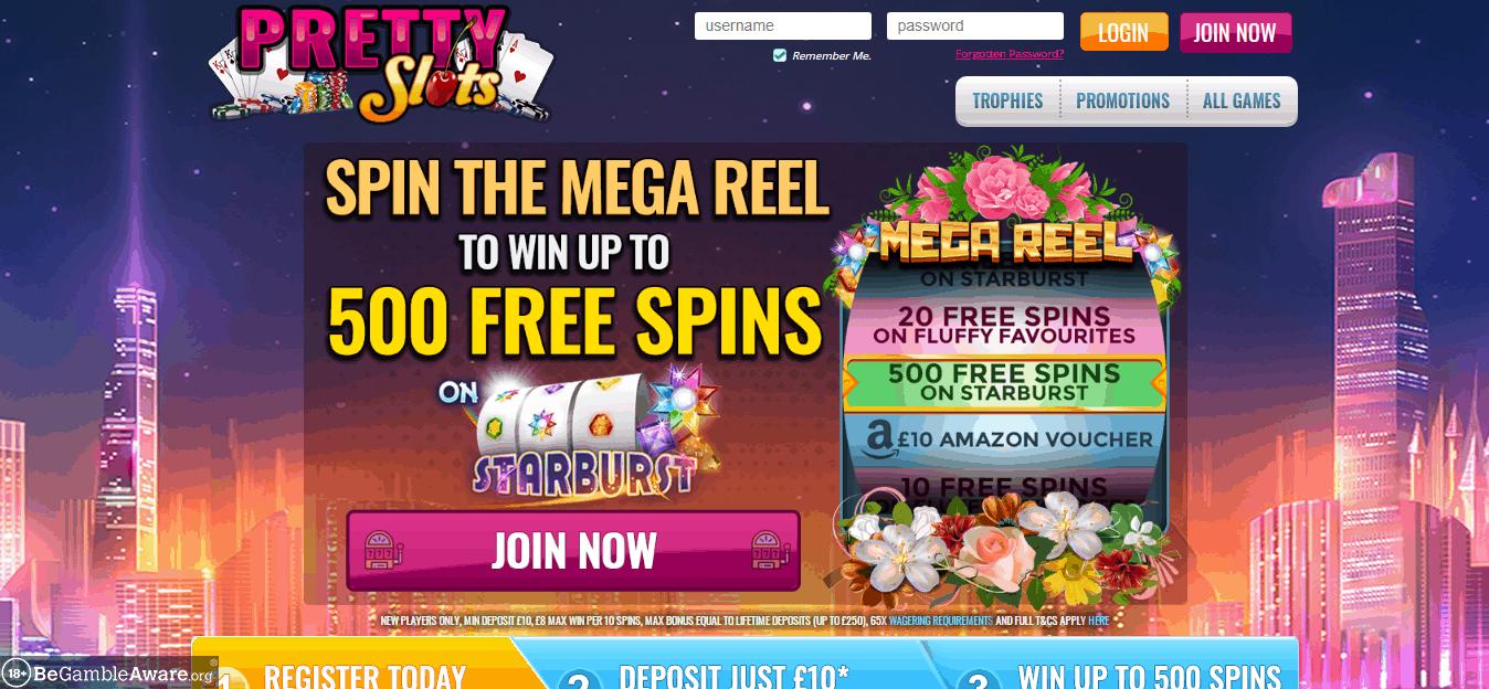Pretty slots home page