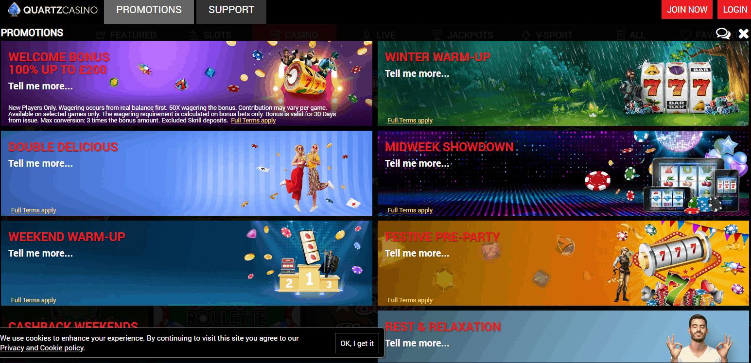 Quartz Casino Promotions