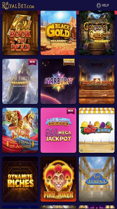 RoyalBet game mobile