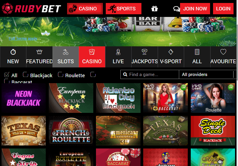 Ruby Bet Game
