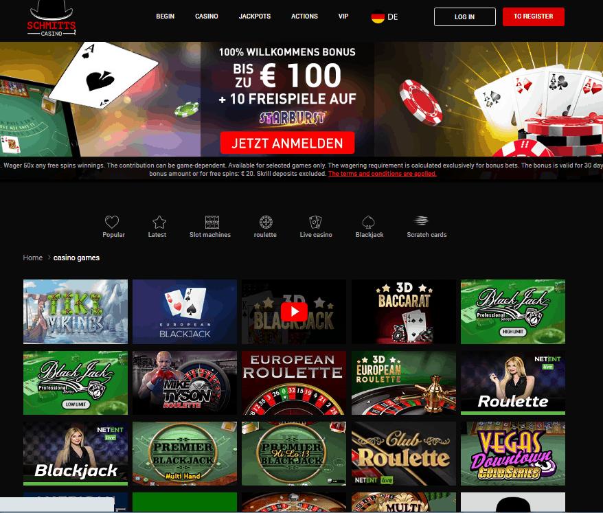 Schmitts Casino Game